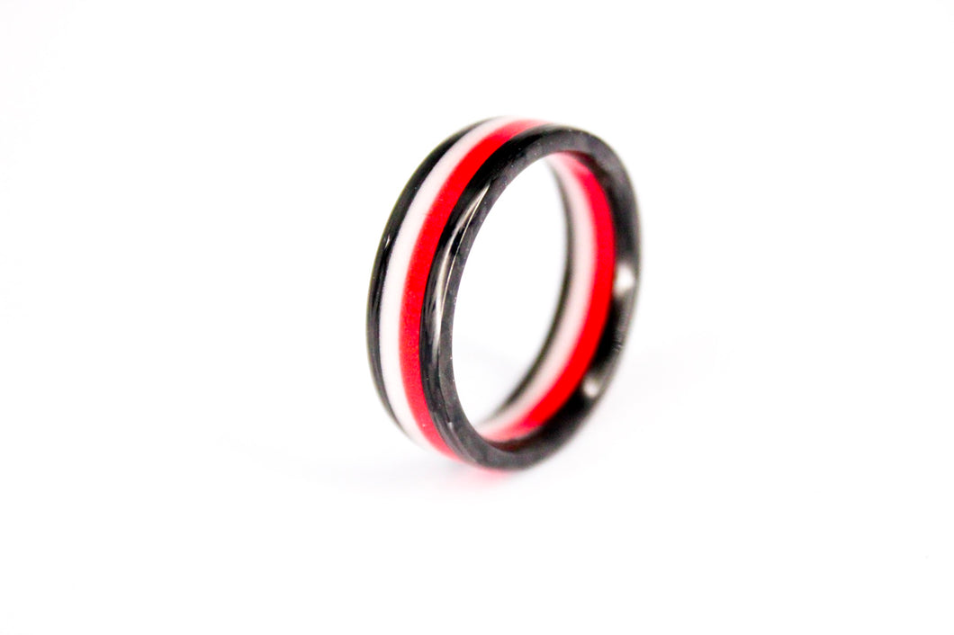 Fire And Ice Apollo Carbon Fiber Ring