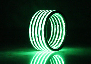 Green Aurora Carbon Fiber Ring