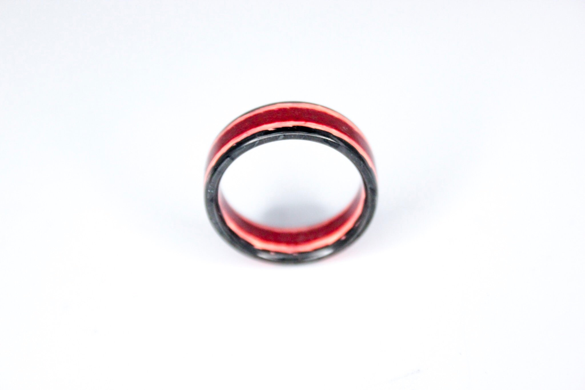 Size 7 Metallic Carbon Fiber Red