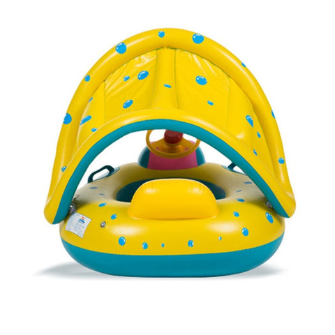 High Quality Safety Baby  Swimming Float Inflatable Adjustable Sunshade Seat Boat Ring