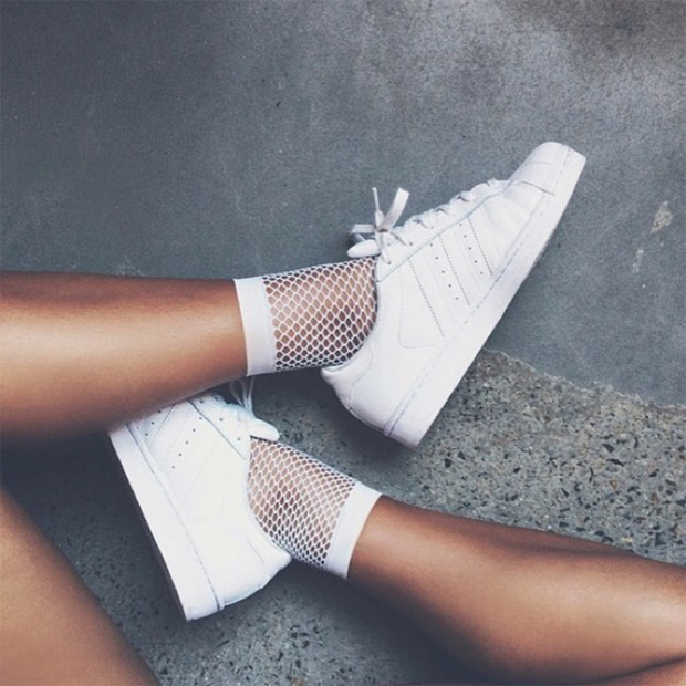 Special Gift Fishnet Socks Mesh Ankle Short Socks-White - worthtryit.com