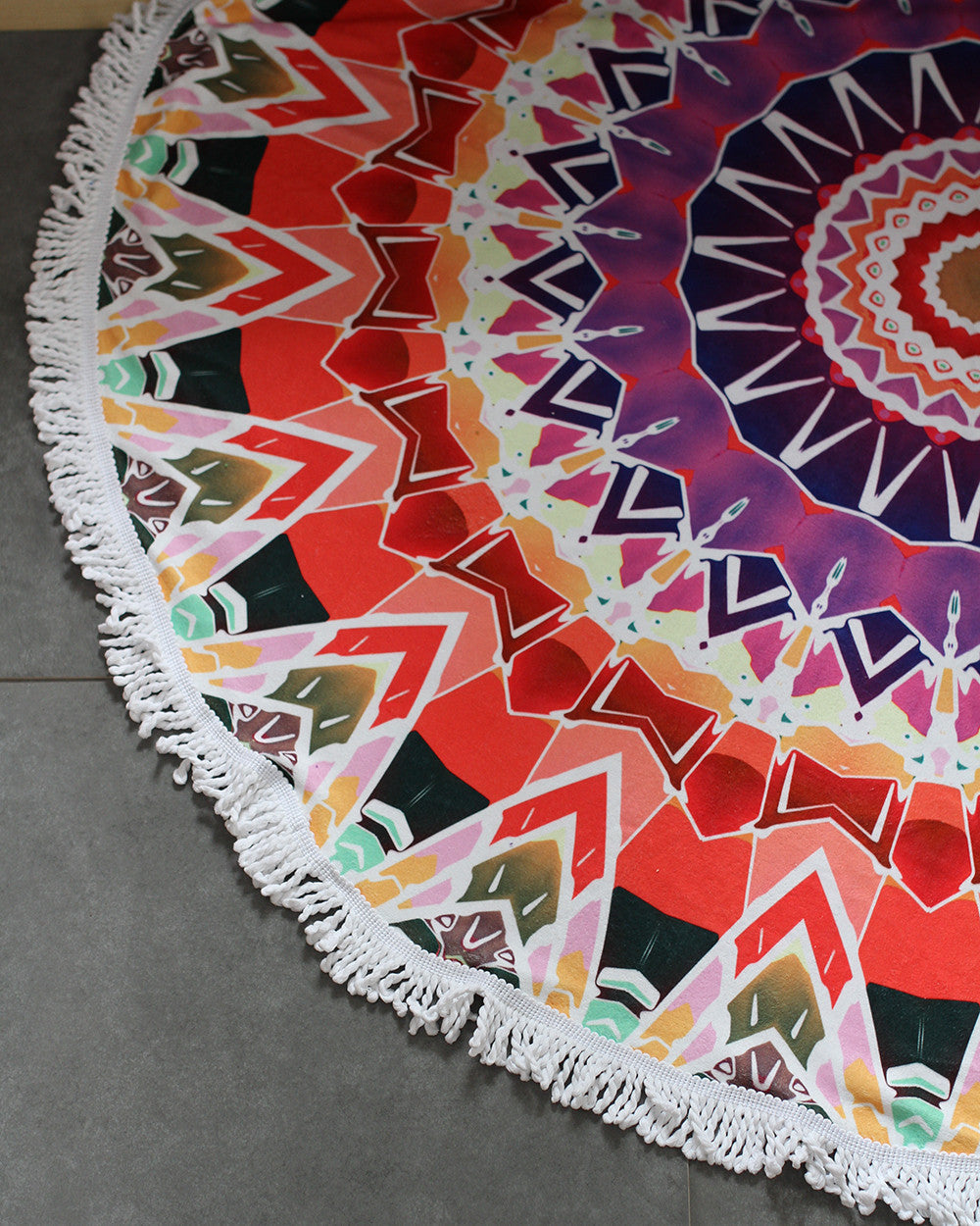 Bohemian Beach Tapestry Mandala Hippie Throw Towel-Red - worthtryit.com