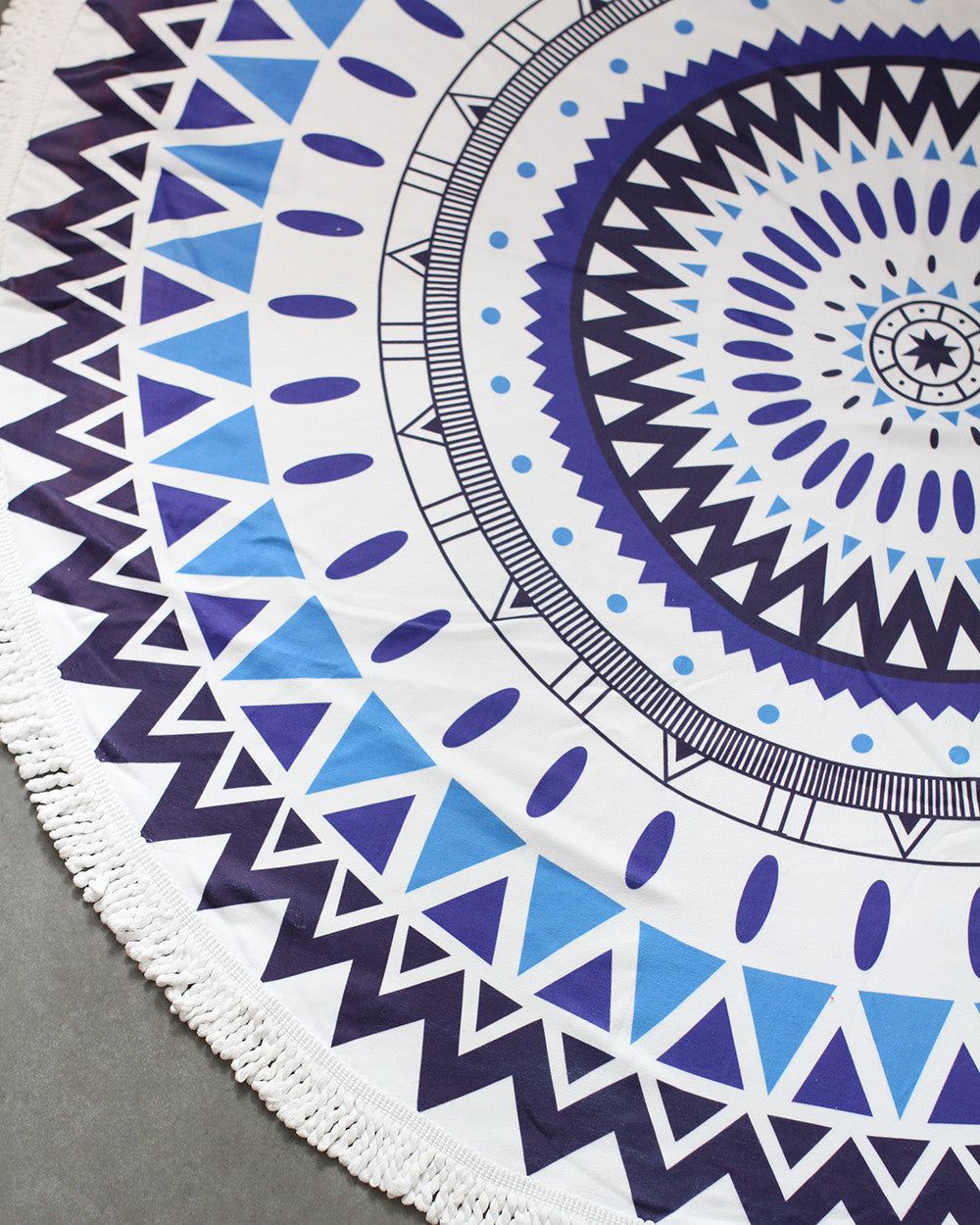 Bohemian Beach Tapestry Mandala Hippie Throw Towel-Blue - worthtryit.com