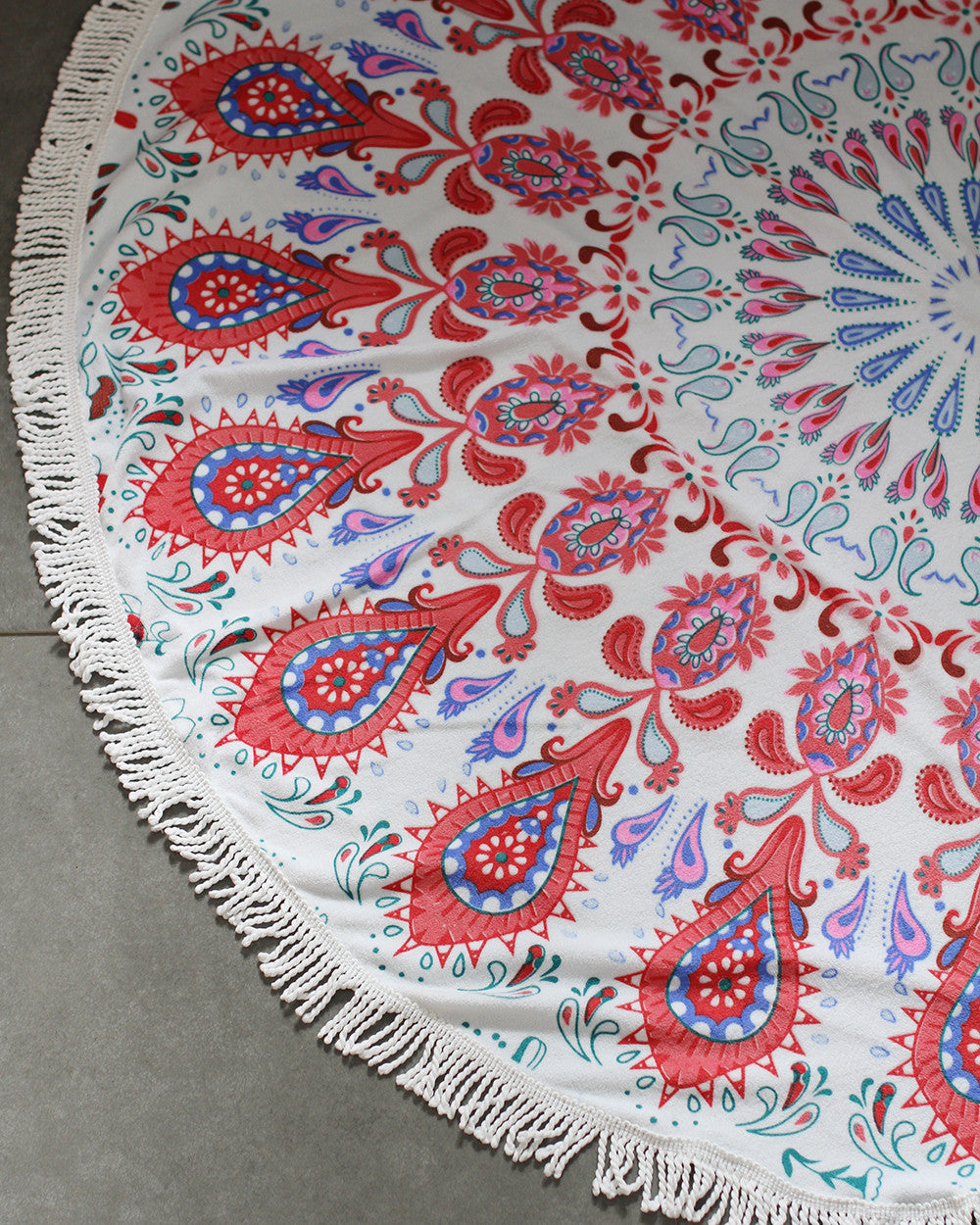 Boho Beach Tapestry Mandala Hippie Throw Blanket-Red - worthtryit.com