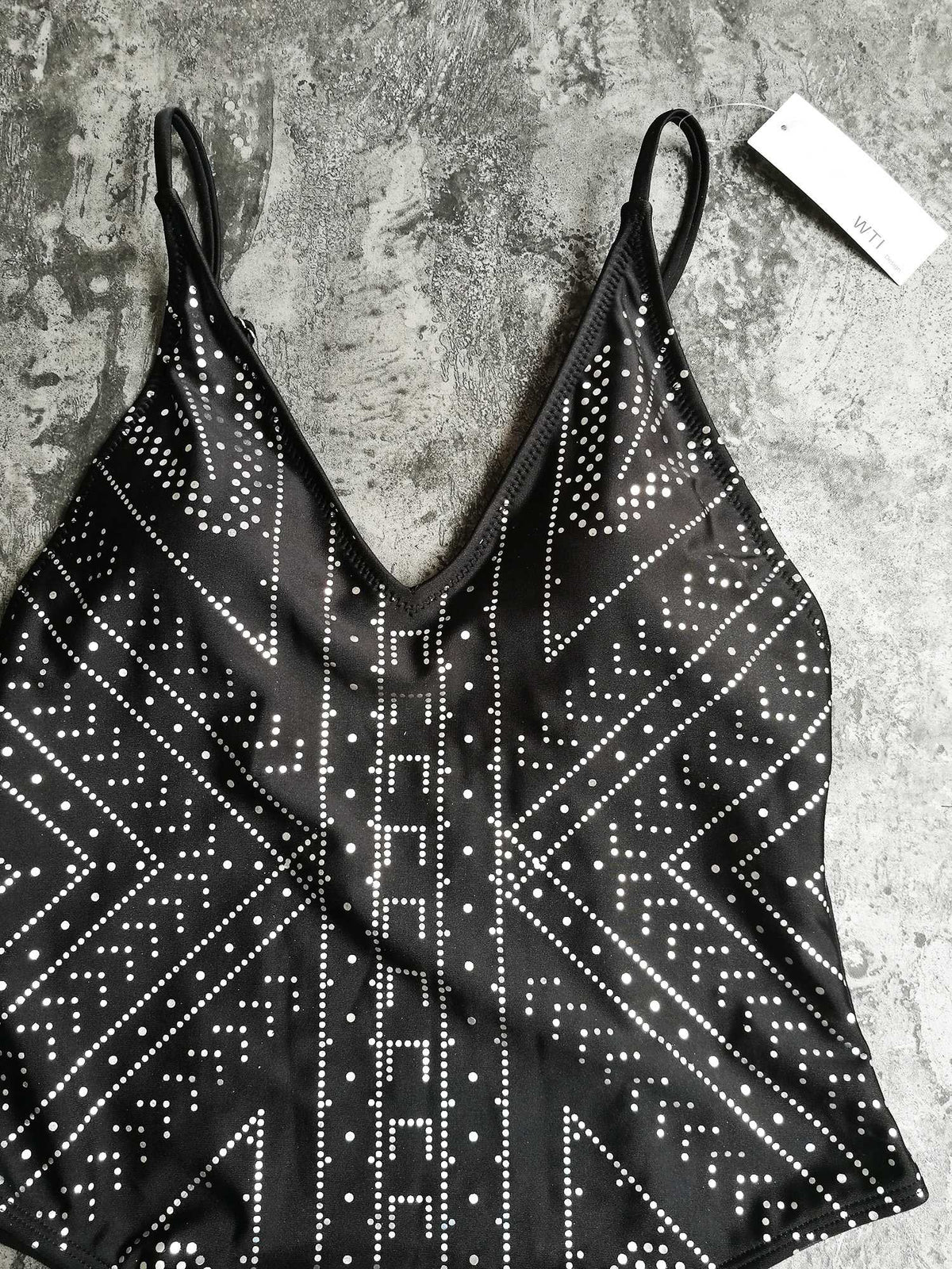 Foil Sliver One Piece Swimsuit - worthtryit.com