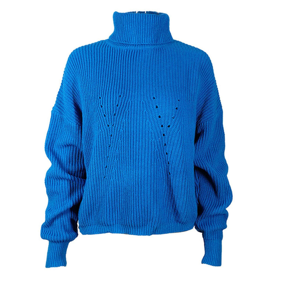 High Neck Bat Wing Short Knit Sweater - worthtryit.com