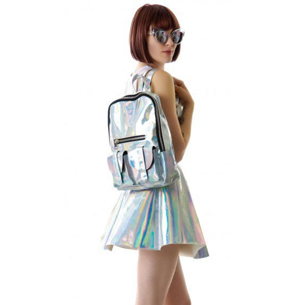 Hologram Backpack With Multi-Pockets - worthtryit.com