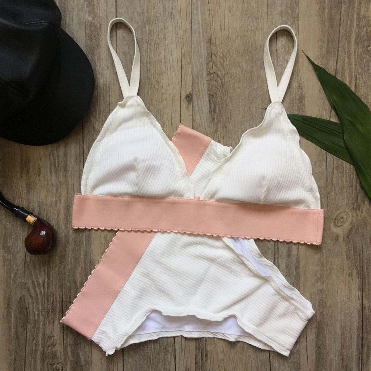 Ruffle scrunch High-Waist Bikini Suit - worthtryit.com