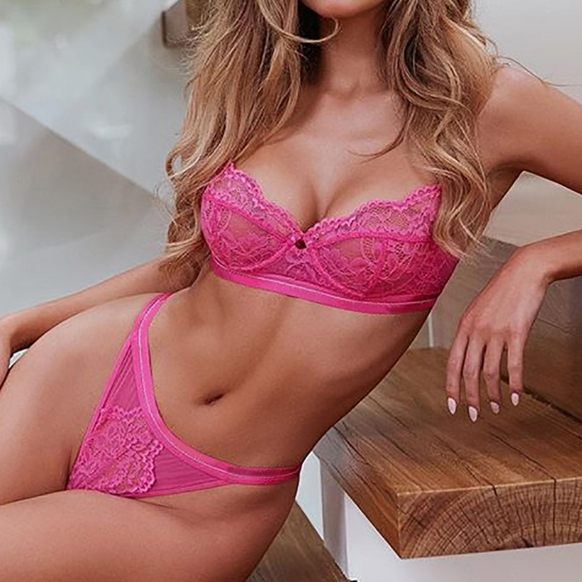 Sexy Lace Underwire Intimate Set - worthtryit.com