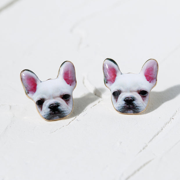 Cute Puppy Earrings Ear Studs - worthtryit.com