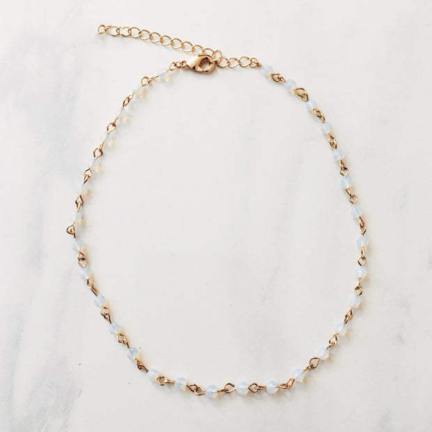 Golden Moonstone Choker Necklace - worthtryit.com