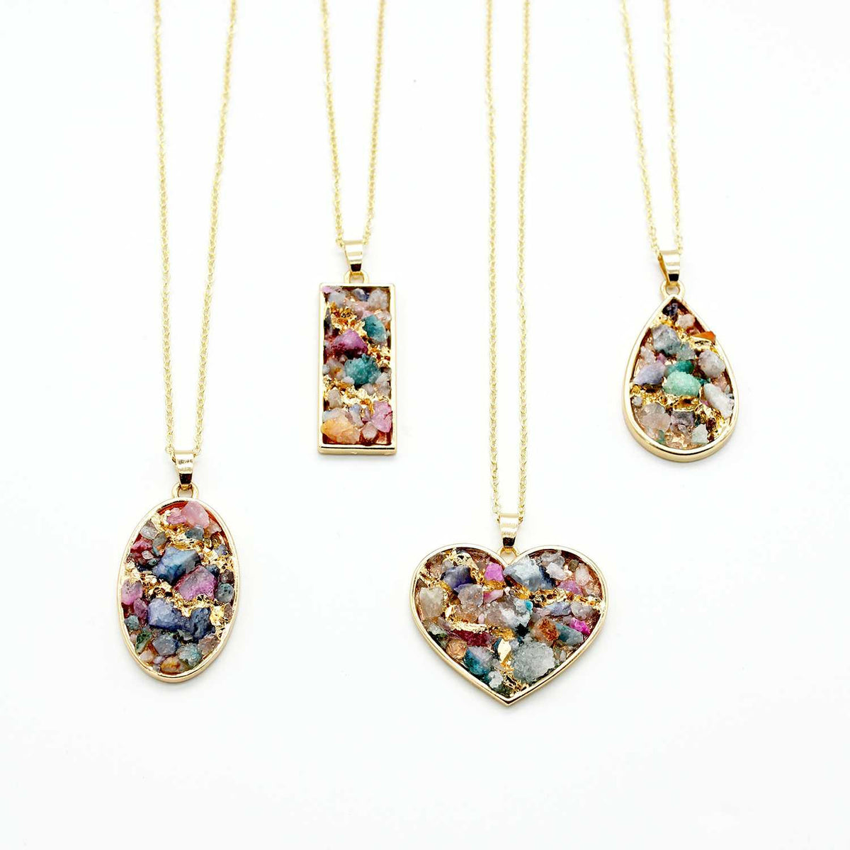 Natural Crystal Druzy Pendant Necklace - worthtryit.com