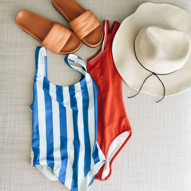 Colorful Stripe One Piece Swimsuit - worthtryit.com