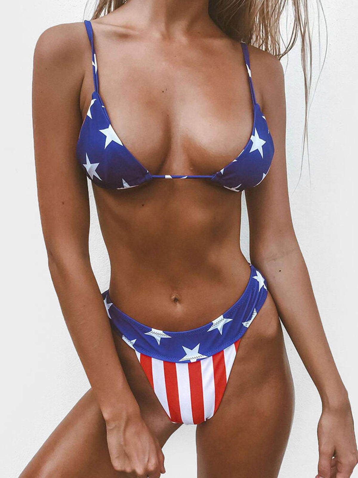 American Heart Triangle Bikini Swimsuit