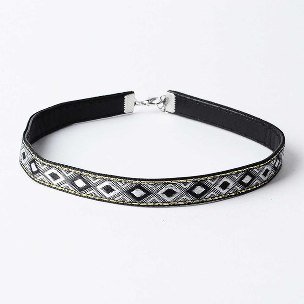 Aztec Choker Necklace-Black & White - worthtryit.com