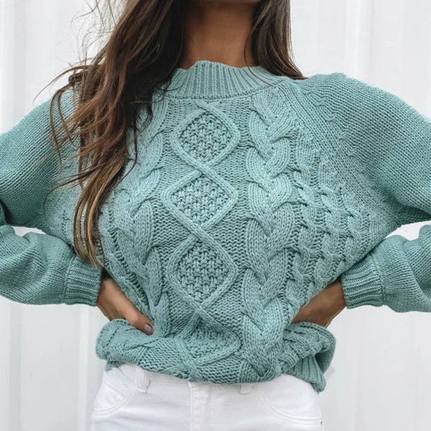 Cable Knit Short Sweater FR20