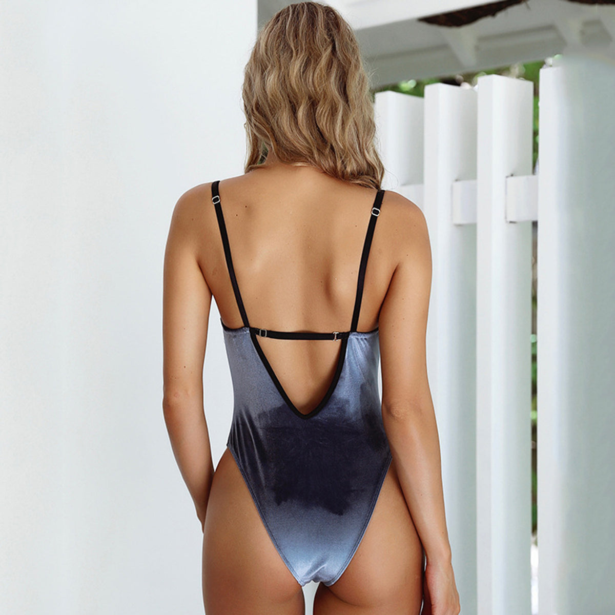 Velvet  High Waist One-Piece Swimsuit - worthtryit.com