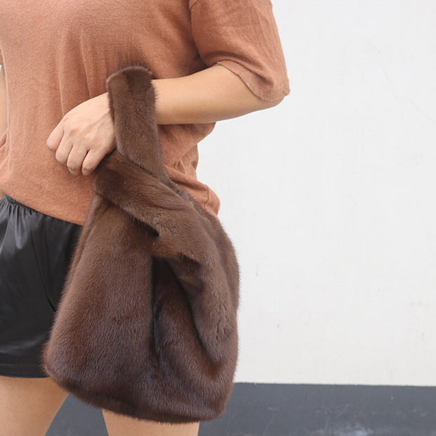 Faux Furry Shopping Bag - worthtryit.com
