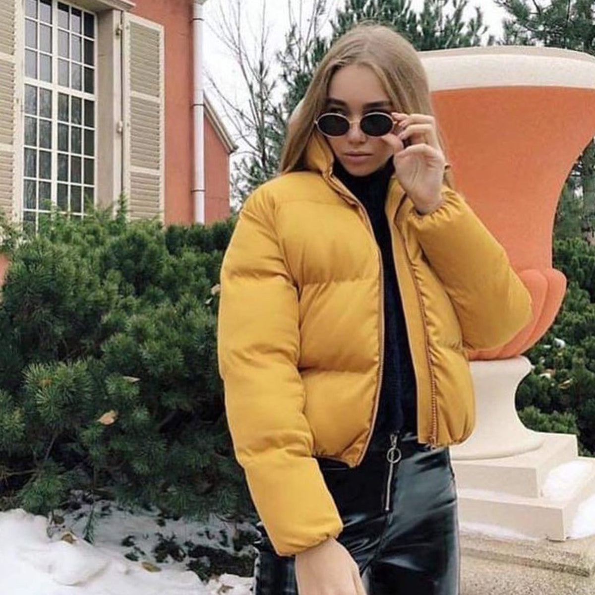 Stand Up Puffer Short Jacket