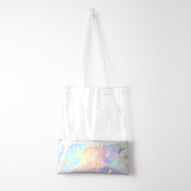Laser Transparent Beach Tote Bag - worthtryit.com