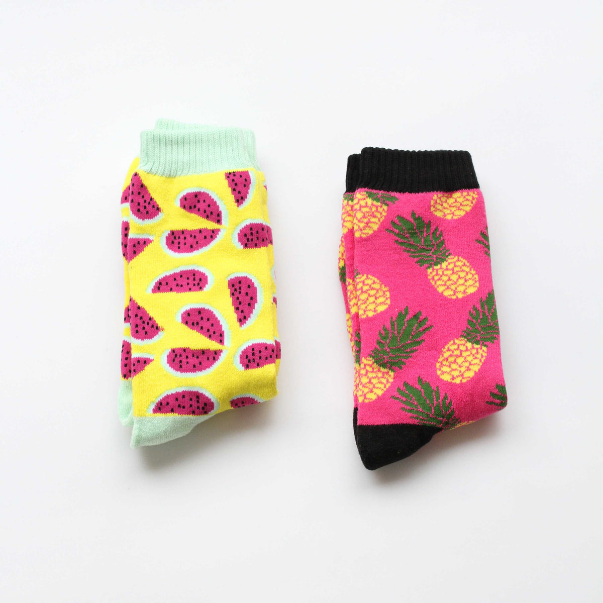 Long Cotton Socks 2 Pairs Set - Fruit - worthtryit.com