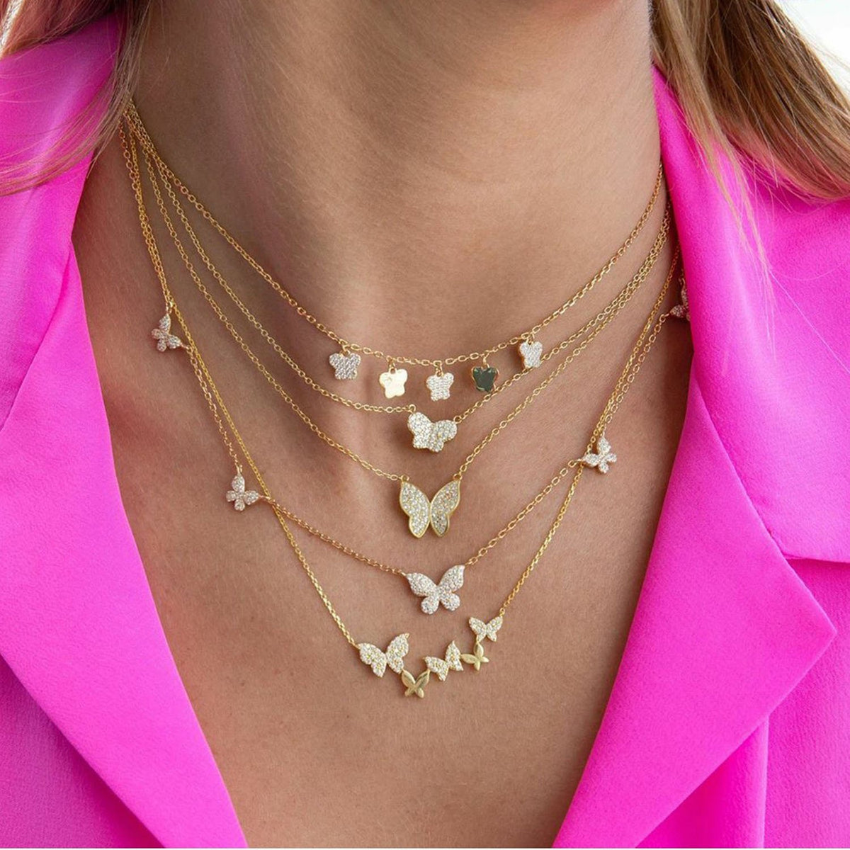 Golden Butterfly Corker & Necklace