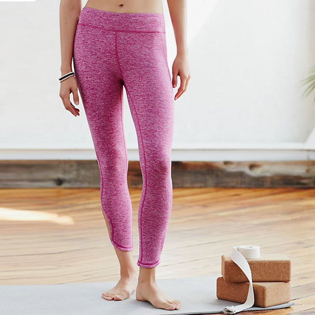 Hollow Out Yoga Pants High Waist Sports Legging-Rose - worthtryit.com