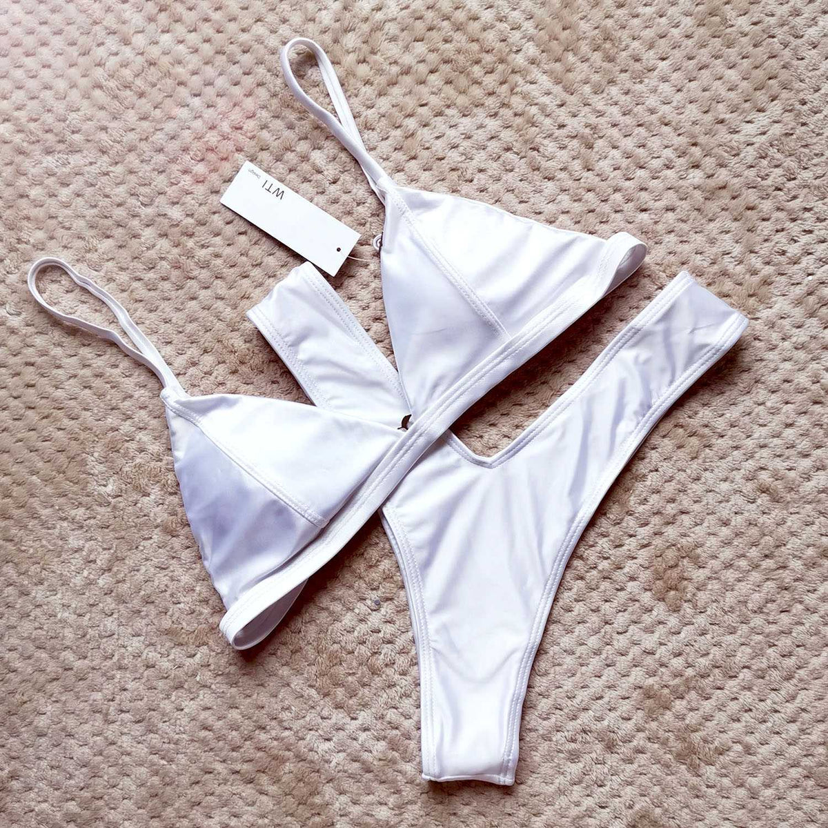 Classic Triangle High Cut Bikini Set - worthtryit.com