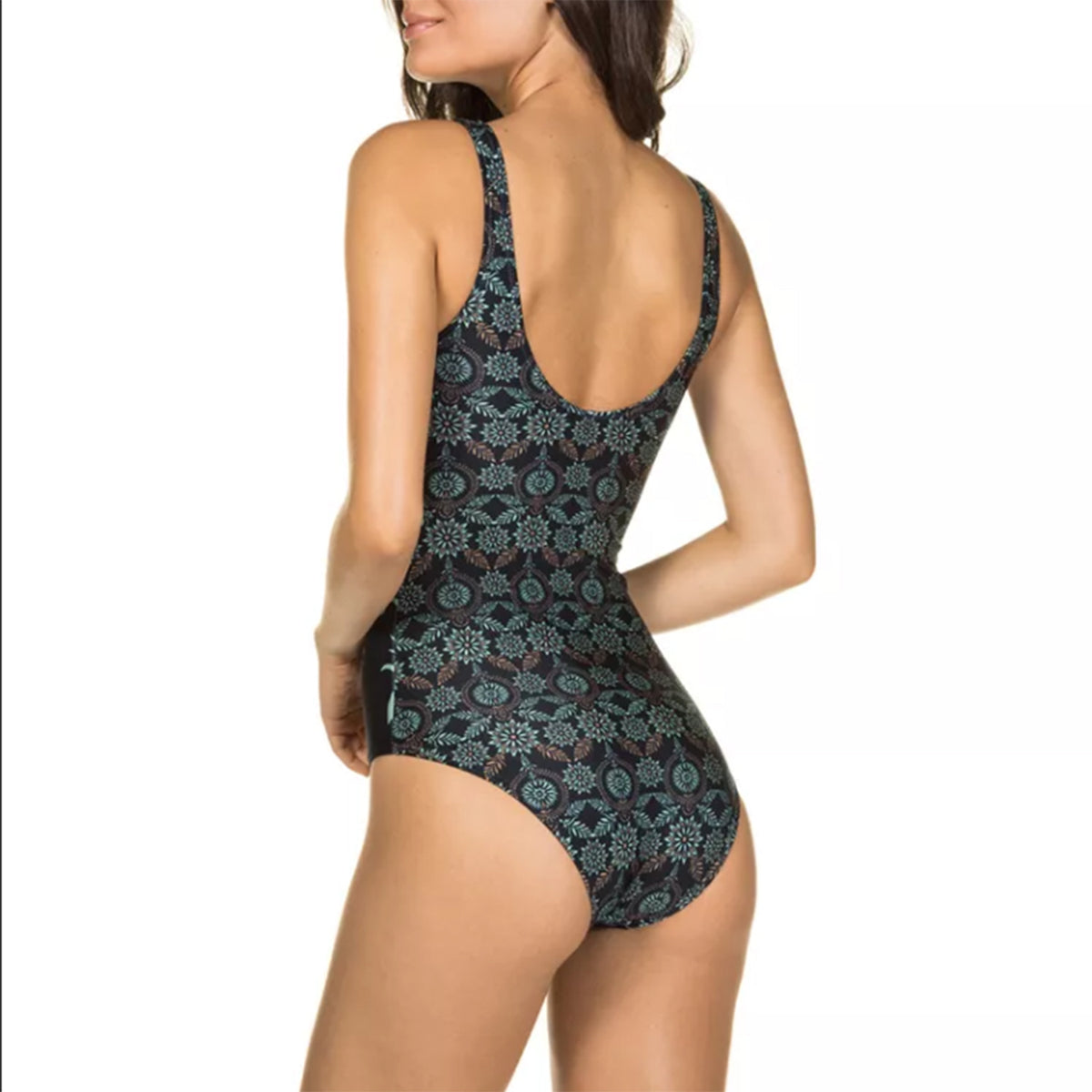 Boho Style Print One Piece Swimsuit - worthtryit.com