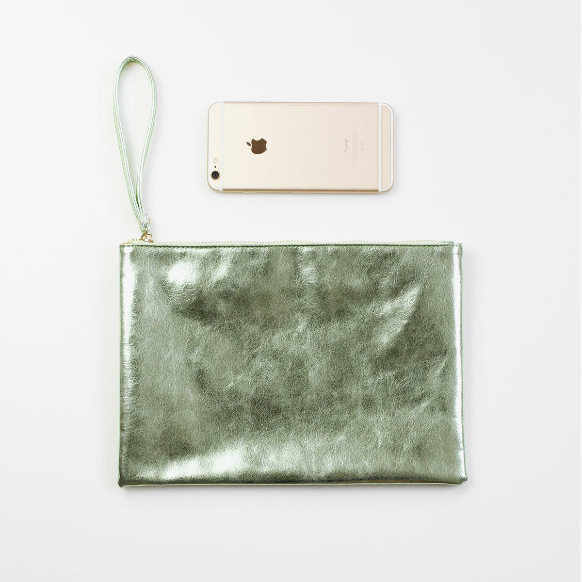 "Metallic Wristlet Handbag Clutch Bag Purse 11.2""*7.78""-3 Colors - worthtryit.com"