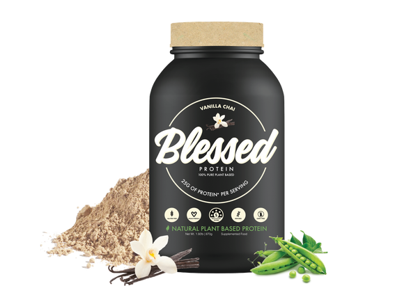 Blessed Protein Tub with ingredients Vanilla Bean