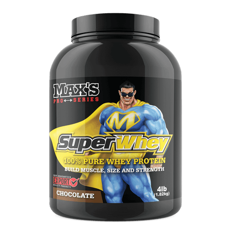 Maxs Super Whey Protein Powder Tub 1.82KG 60 Serves