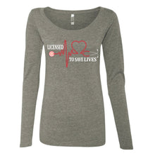 Licensed To Save Lives long sleeve ladies top