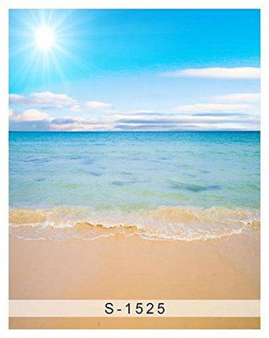 Sun Sunrise Blue Sky Cloudy Ocean Beach Floor Photography Studio Backdrop Background