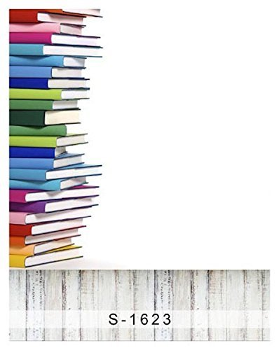 Colorful Study Books School Student Wood Floor Photography Studio Backdrop Background