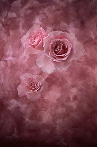 Retro Pink Flowers Photography Studio Backdrop Prop Background