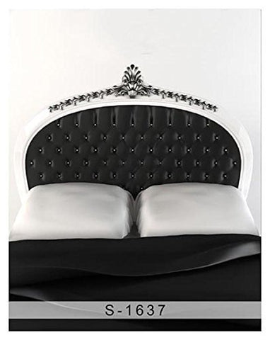 White Black Kingsize Bed Bedroom Photography Studio Backdrop Background