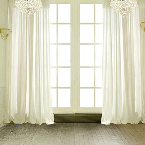 Wedding White Curtain Window Door Photography Studio Backdrop Background