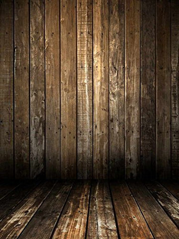 Brown Wood Floor Wall Photography Studio Backdrop Prop Background