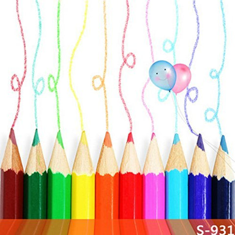Color Pencil Crayon Drawings Photography Studio Backdrop Background