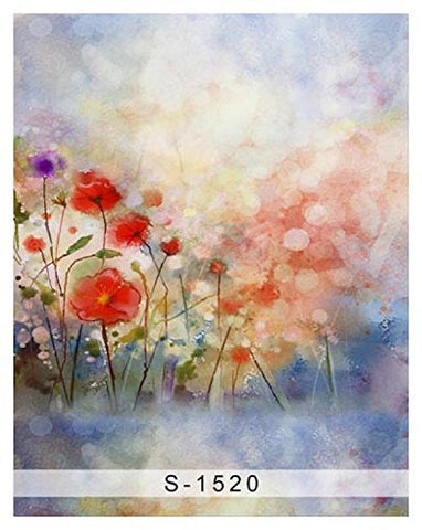 Art Paint Gouache Flower Photography Studio Backdrop Background