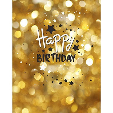 Gold Dots Stars Birthday Photography Studio Backdrop Background