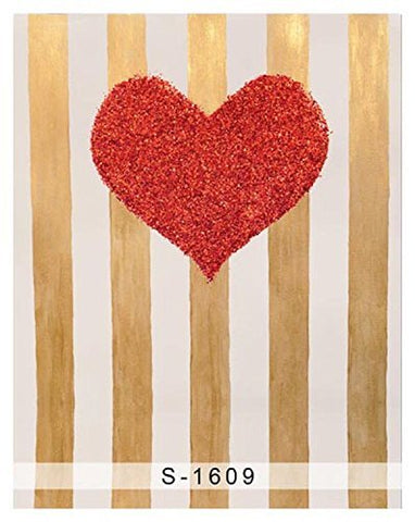 Red Heart Wood Wall Wood Floor Photography Studio Backdrop Background