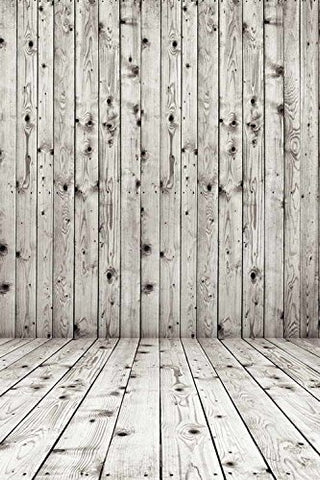 Gray Holes Wood Floor Wall Photography Studio Backdrop Prop Background