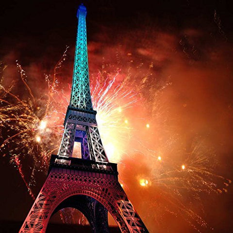 Paris Eiffel Tower Fireworks Photography Studio Backdrop Background