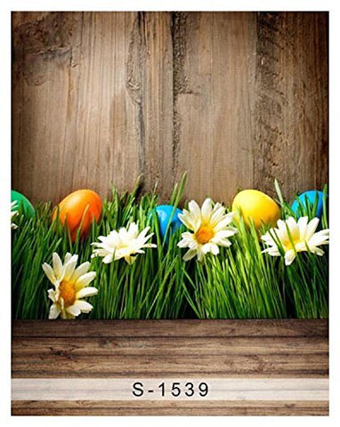 Easter Egg Sunflower Glass Wood Floor Photography Studio Backdrop Background