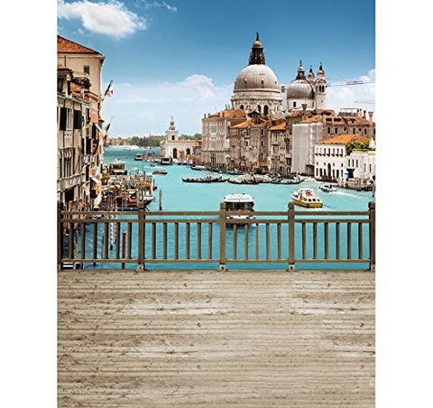 Venice Romance Ship Boat Bridge Photography Studio Backdrop Background