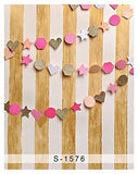 Fence Barrier Star Heart Wood Floor Photography Studio Backdrop Background