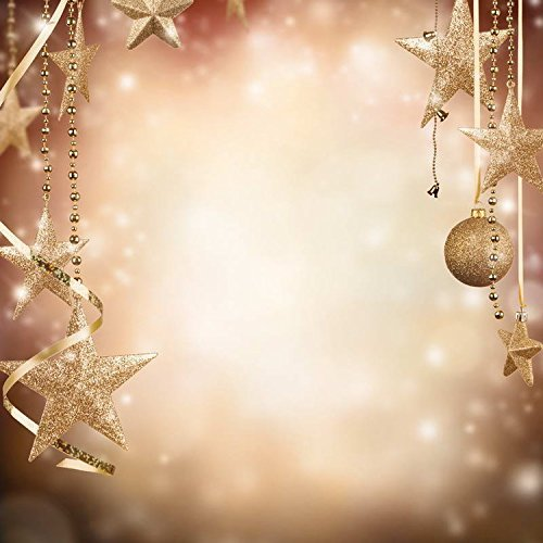 Gold Star Ball Blur Photography Studio Backdrop Background