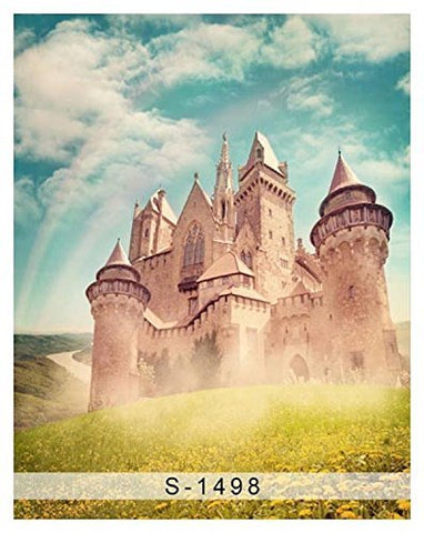 Bluesky Rainbow Old Castle Photography Studio Backdrop Background